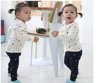 Girl Spring / Autumn Long Baby Clothing Sets Baby suit sleeved sports and leisure suits boy suit baby girl baby pajamas children's sweaters