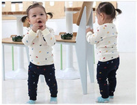 Cheap Baby Clothing Sets Baby suit long sleeved sports and leisure suits boy suit baby girl baby pajamas children's sweaters 3PCS LOT