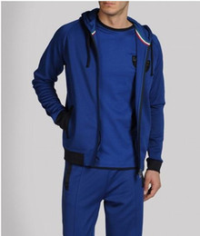 Wholesale EA7 sport suit men s clothing new classic fashion leisure printing coat suits Men s tracksuits sport set