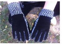 Wholesale Pigskin suede gloves with velvet