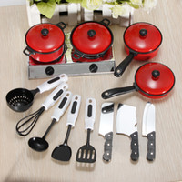 Boys 2-4 Years Multicolor NEW 13 Set Kids Child Children Pretend Play Education Learn Kitchen Cookware Pot Pan Knife Toy Free Shipping Wholesale