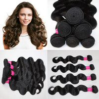 Wholesale brazilian virgin hair weave body wave peruvian hair extensions b color cambodian malaysian mongolian indian human hair weft mix length
