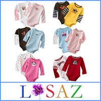 Wholesale Newborn Cartoon Baby Clothing Romper Bebe Clothes For Girls Cotton Bodysuits