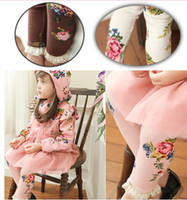 Cheap Spring Fashion girl tights kids leggings children's tights flower girl tights 3 colors XBCK030