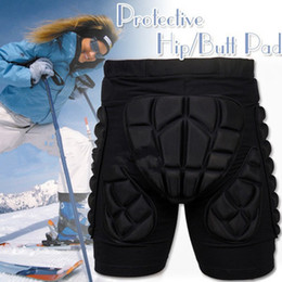 Wholesale WOLFBIKE Black Short Protective Hip Butt Pad Ski Skate Snowboard skating skiing protection drop resistance roller padded pants