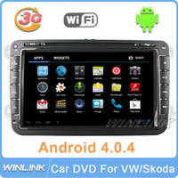 Wholesale car dvd Android quot Car PC DVD GPS For Volkswagen VW Passat CC Golf Jetta Polo Tiguan Touran Bora caddy Skoda Radio G Free WiFi Canbus