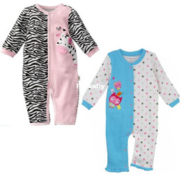 Wholesale Al por mayor Primeros Momentos más nuevo bebé Pijamas mamelucos recién nacido Mono de una sola pieza del mameluco del niño del mono Babywear Trajes de ropa de bebé W116
