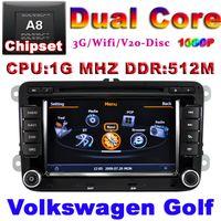 Wholesale Car DVD for VW Golf Polo Passat CC Jetta Tiguan Touran EOS Sharan Scirocco caddy with GPS radio USB wifi G audio video player