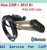 Best DHL free shipping] 2013.1 software TCS cdp pro plus for cars & truck 2in1 with oki chip and bluetooth +keygen in CD