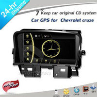 "Cheap Free ship new product 7"" in-dash Car GPS with BT USB MP5 player for Chevrolet Cruze 09-13 No DVD Keep car original CD player"