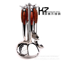 Wholesale Stainless steel cutlery stainless steel kitchen utensils seven piece Series Gift Set Kitchen shovel spoon