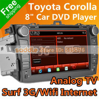 """Cheap 8"""" TOYOTA COROLLA Car DVD with GPS Analog TV 1080P MP5 iPod RDS Bluetooth WinCE 6.0 Office 3G Wifi ! TOYOTA Car DVD Wholesale!"""