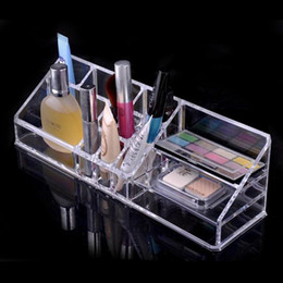 Wholesale High Quality Cosmetic case One Set New Fashion Clear Acrylic Cosmetic Jewelry Organizer Makeup Box Case SF pieces