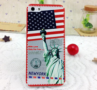 Cheap New Design Postage Stamp Pattern PC Hard Case for iPhone 5s 5 5C 5G Frosted Back Skin Cover 8 Colors Free Shipping ecar0386
