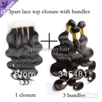 Body Wave Brazilian Hair 4x4 Brazilian Virgin Hair 4pcs Lot 3 three Part Lace Closure With 3pcs Hair Bundles Unprocessed Human Virgin Hair Extension Body Wave