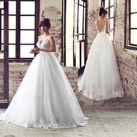 Wholesale Vestido de novia Tulle Vestidos Dress Sleeveless Crystal Ball Long Sexy Backless Wedding dresses