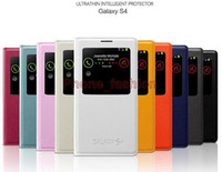 Cheap Case for Samsung Galaxy S4 Open Window Leather Cover Free shipping mobile phone bags&cases Brand New Arrive 2014 Accessories