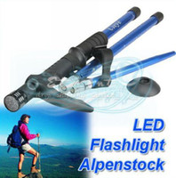 Cheap Wholesale - Brand New Hot Sell LED Light AntiShock Trekking Hiking Retractable Walking Stick