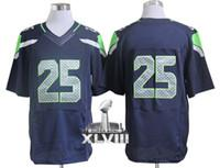 Wholesale Elite Football Jerseys American SB patch blue Jerseys Jersey Mix Order Free