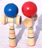 Wholesale 100pc Children Educational Toy Funny Bahama Traditional Wood Game Skill Kendama Ball J140