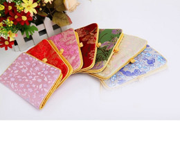 jewelry bag,gift bag ,jewelry pouches,mixed color, Chinese silk bag,size :9*14cm, sold per ONE PC