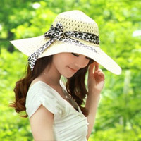 Wholesale 2014 New Fashion Jewelry Hollywood Sexy Lovely Wide Wire Brim Summer Beach Sun Straw Floppy Hat for women