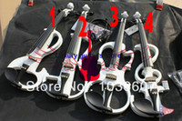 Wholesale 4 Electric Violin Outfit White Electric violin WITH CASE styles please select a descr purchase for for2 for3 for4