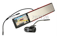 Cheap car dvr 5 inch gps navigation Navigator +720P DVR recorder (option) + car rear camera (option) + rear view mirror + Bluetooth+AVIN +128M