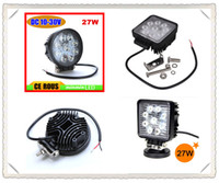Wholesale Square and Round shape W Flood Beam Offroad LED Work Light Truck Boat Camping DC V V LED Worklight Off Road Round Driving Working Lamp