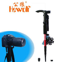 Cheap Wholesale - Hewolf outdoor products hiking pole camera frame hiking walking stick t handle outdoor carbon walking stick 1355 About 350G