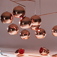 Wholesale Hot Sale Tom Copper Fashion Glass Ball Dixon Bubble Best Ceiling Lighting Pendants Lamp E27 V V Gold Copper Silver Multi Size Shipfree