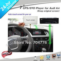 Cheap car dvd In stock Car GPS DVD player for Audi A4 A5 Q5 from 2009 only add a touch screen keep car original screen display CD player