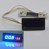 Wholesale New V A DC Digital Blue Red LED Combo Panel Amp Meter Voltmeter Volt with Shunt