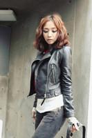 Cheap 2014 New Arrival Solid Slim Jacket Short Cotton Streetwear Coat Zipper Korean Style Spring Fashion Women Sexy Clothing YQW12-12