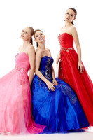 Cheap New Designs Fashion Prom Dresses 2014 Peacock Lace Applique And Pleated A-Line Sweetheart Neck Zipper Floor Length Tulle Evening Party Gowns