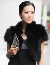 Wholesale 2014 fur shawl quality short rabbit fur vest vest on sale