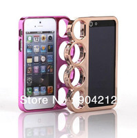 Cheap Metal Aluminum Ring Brass Knuckle Case Bumper for iphone 4 4s,For iphone 5 5s 5g