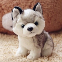 Retail husky dog plush toys, stuffed animals toys& hobbies...