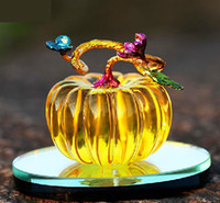 Wholesale 5ml Bright Pumpkin Shape Perfume Bottle for Car Crystal Crafts Home Decoration ZH0211