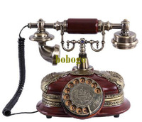 Wholesale decorative phone classic antique rotary phone dial vintage telephone European telephone Creative Phone gift packaging gift of choice
