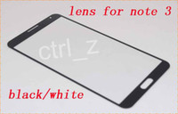 Wholesale Front Glass Outer Lens Touch Screen Cover Replacement Part for Samsung Galaxy Note3 Note III N9000 N9005 black white
