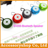 Cheap BV200 Mini Bluetooth Pocket Speaker Support Hand-free TF Card Wireless Outdoor Sports Loundspeaker For iPhone 5 Galaxy S4 Tablet 100pcs DHL