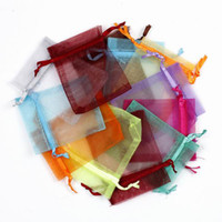 Wholesale 500PCS Top cm Size Mix Colors Wedding Favor Organza Gift Bags Jewelry Candy Pouchs Bags XES1