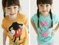 Wholesale Minnie mouse t shirt baby girl summer cartoon casual t shirt shirt tops baby girl clothes