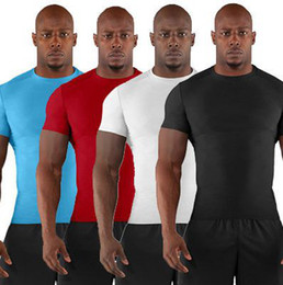 Wholesale UA MEN S Armour Heatgear Gym Training Squeeze COMPRESSION Short Sleeve stretchy Sport Tee T Shirts with tags