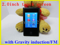 Wholesale 7th g internal memory mp4 player with fm radio e book touch screen mp3 music player with accessories DHL