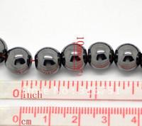 al por mayor hematita collar-Mayorista de 10mm Negro Hematita Ronda de Perlas 80pcs/2strand de piedras preciosas Sueltas Perlas de Ajuste Pulsera de Shamballa Collar
