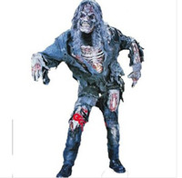 TV & Movie Costumes Men People Zombie 3D Adult Costume Living Dead Man Walking Mask Halloween Costumes Carnival cosplay costume