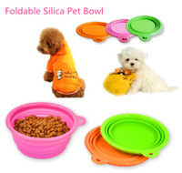 Wholesale High Quality Silica Materia Foldable Portable Pet Dog Cat Travel Bowl Water amp FoodFeeder Color
