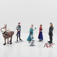 Wholesale Hot sale set Frozen Anna Elsa Hans Kristoff Sven Olaf PVC Action Figures Toys Classic Toys